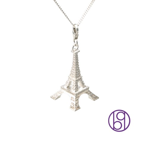 Tour Eiffel Sterling Silver for bijouxquatre jewelry